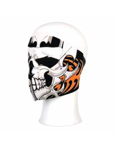 Masque facial Skull orange