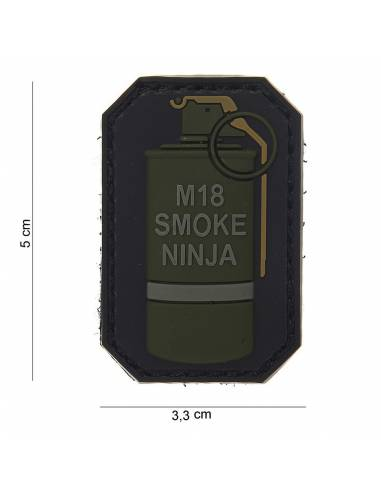 Patch PVC 3D M-18 SMOKE NINJA