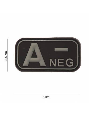 Écusson PVC 3D A- Neg