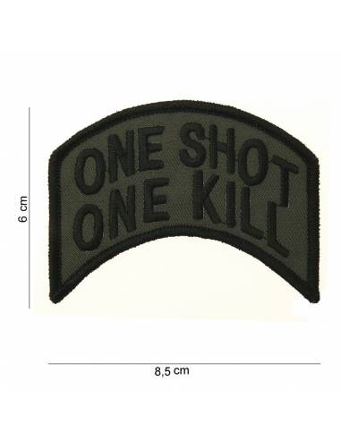 Écusson One shot, One kill avec velcro