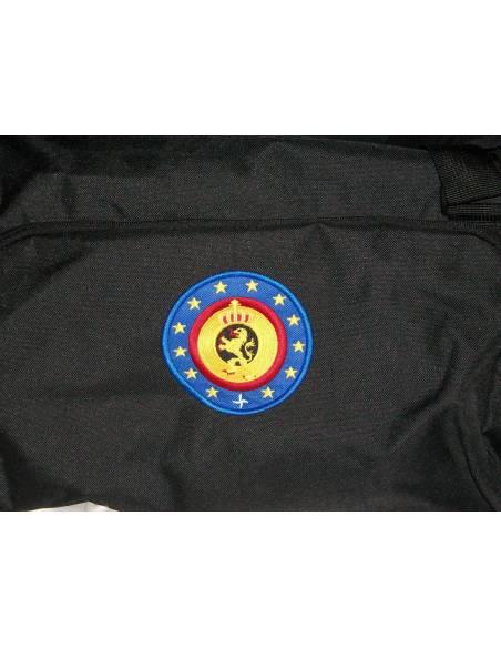 A black transport bag