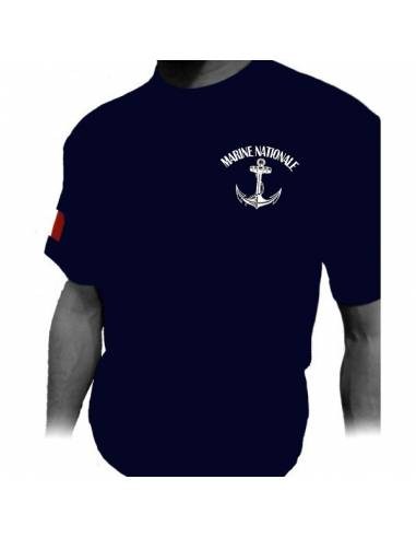 T-shirt Marine Nationale ancre