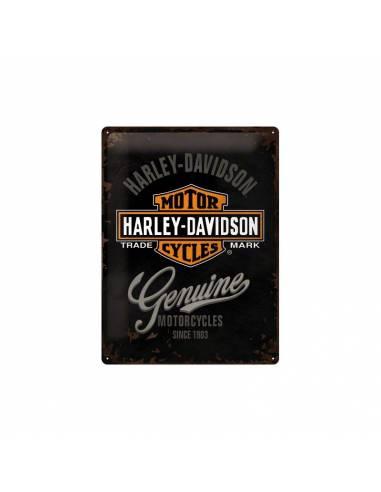 Plaque métal Harley-Davidson genuine