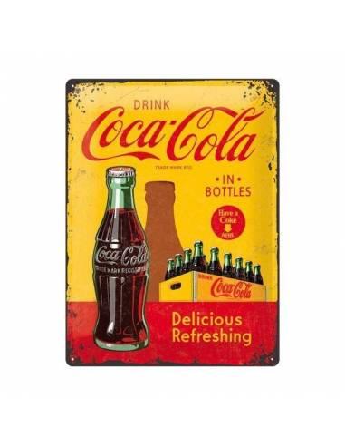 Plate metal Coca-Cola Delicious Refreshing