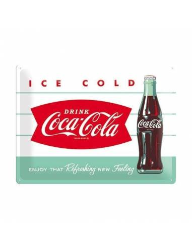 Plate metal Coca-Cola Ice Cold
