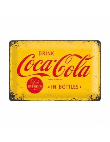Petite plaque Coca-Cola Refresh Your Guest