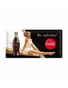 """Plate Coca-Cola """"Be refreshed"""""""