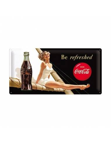 "Plaque Coca-Cola ""Be refreshed"""