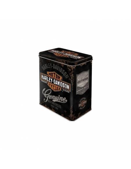 Box metal Harley-Davidson genuine high black