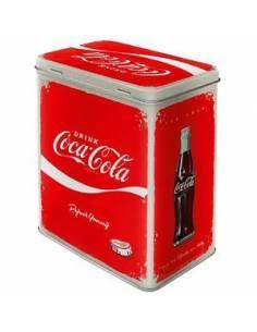 Metal box, rectangular, Coca-Cola