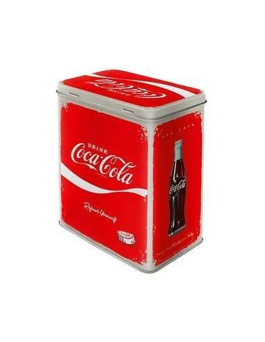 Boîte en métal rectangulaire Coca-Cola