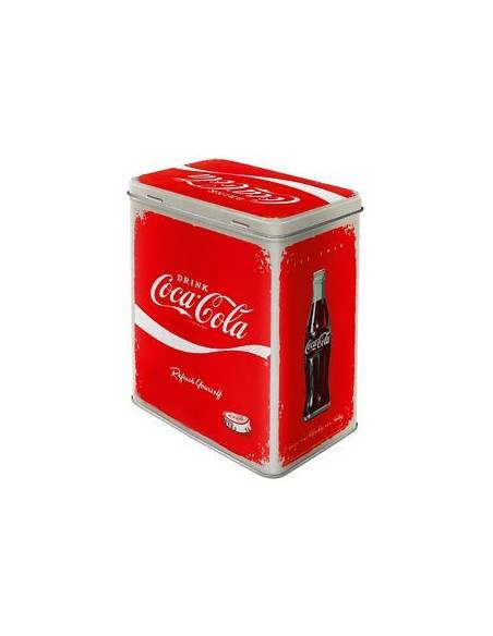 Metal box, rectangular, Coca-Cola