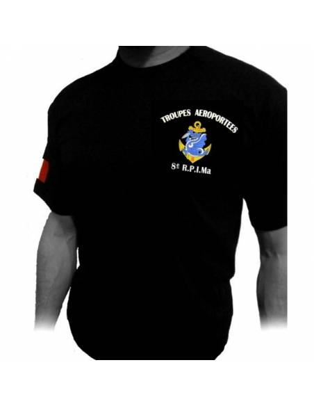 T-Shirt 8eme RPIMa (Regiment Parachutistes d'infanterie de Marine)