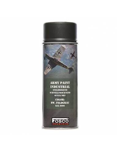 PAINT MILITARY SPRAY FOSCO 400 ML BW FELD GRAU GREY WOOD AEROSOL