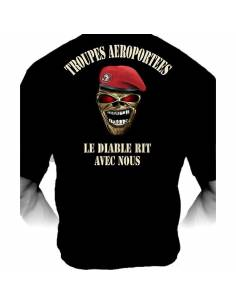 """Tee-shirt Légion étrangère """"le diable rit avec nous"""""""