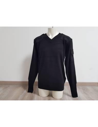 V neck sweater black