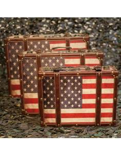 valise déco drapeau us