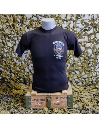 """T-shirt naval Troops """"the devil walks..."""