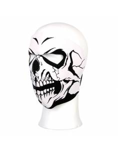Full face mask Skull white