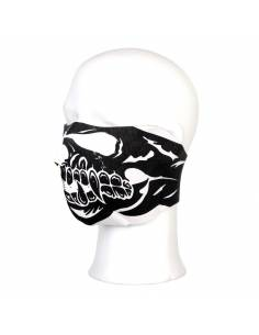 Mask half face Skull black