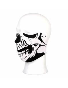 Masque demi-facial Skull blanc