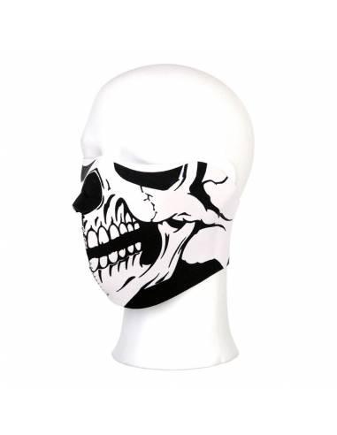 Mask half face Skull white