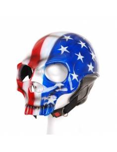 Full-face helmet in the shape of a skull