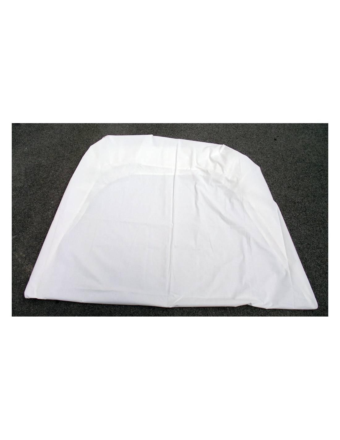 Drap housse blanc pour lit 90cm stock am ricain for Drap housse 140 90 pour lit evolutif