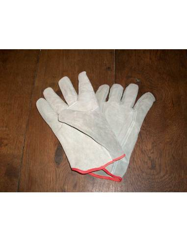 Work glove-leather