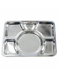Meal tray in Stainless steel