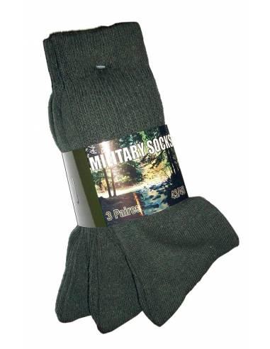 Lot de 3 chaussettes militaires