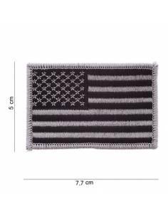 Écusson drapeau Américain argenté