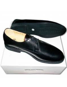 Low shoe leather black
