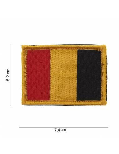 Écusson drapeau Belgique avec velcro